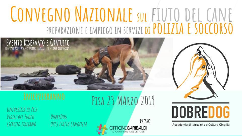 Locandina evento Impiego del cane nelle forze di polizia e soccorso