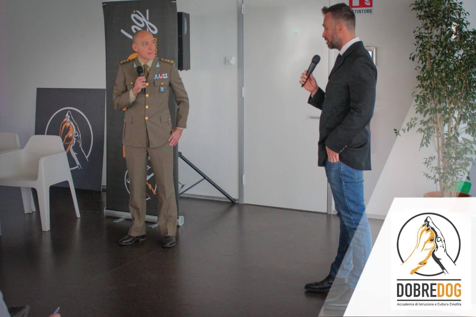 Tenente Colonello Lorenzo Tidu, Medico Veterinario responsabile del Centro di Addestramento dell'Esercito Italiano di Grosseto