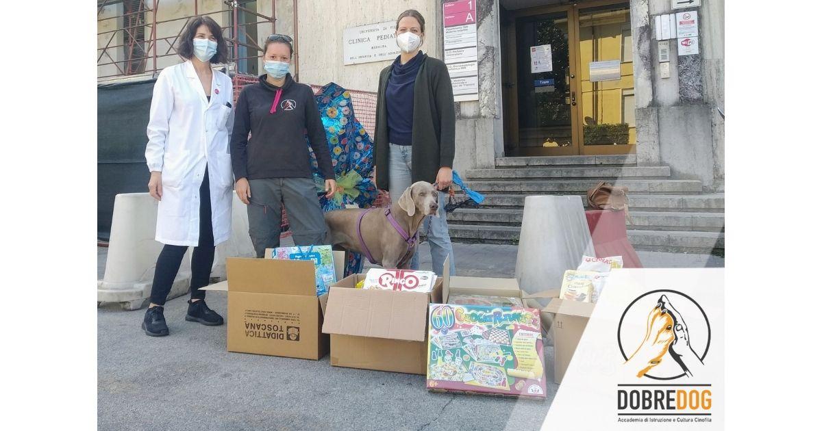 Donazione Dobredog al reparto di Pediatria di Pisa: oltre la sorpresa dell'uovo!
